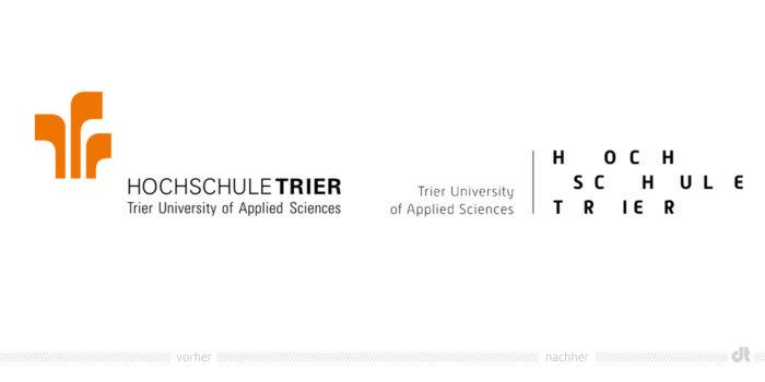 Hochschule Trier Logo – vorher und nachher