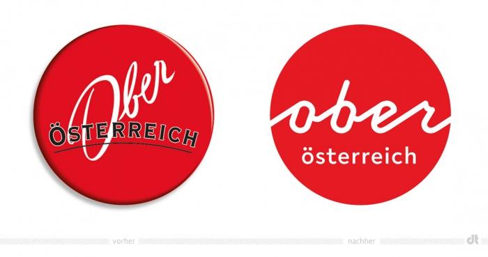 Oberösterreich Tourismus Logo – vorher und nachher