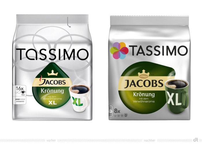 Tassimo Jacobs Krönung XL – vorher und nachher