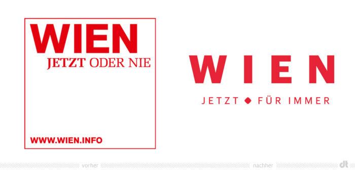 Wien Logo – vorher und nachher