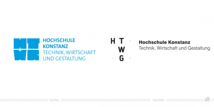 HTWG Logo – vorher und nachher