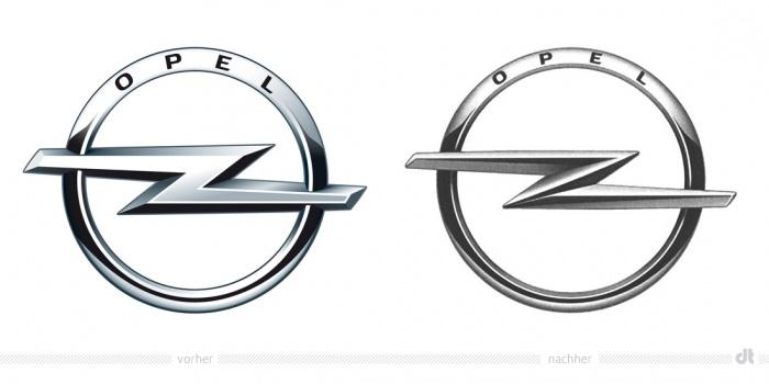 Opel Logo – vorher und nachher