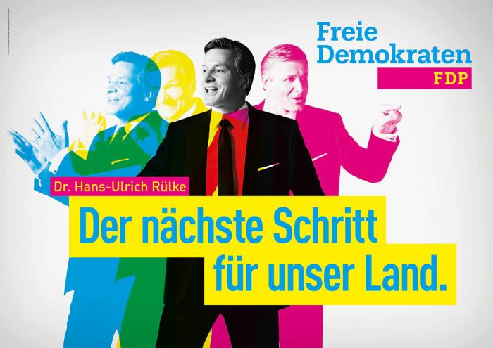 Plakat zur Landtagswahl in Baden-Württemberg 2016 FDP – Hans-Ulrich Rülke