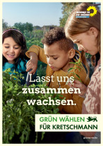Themenplakat zur Landtagswahl in Baden-Württemberg 2016  Bündnis90/Grüne