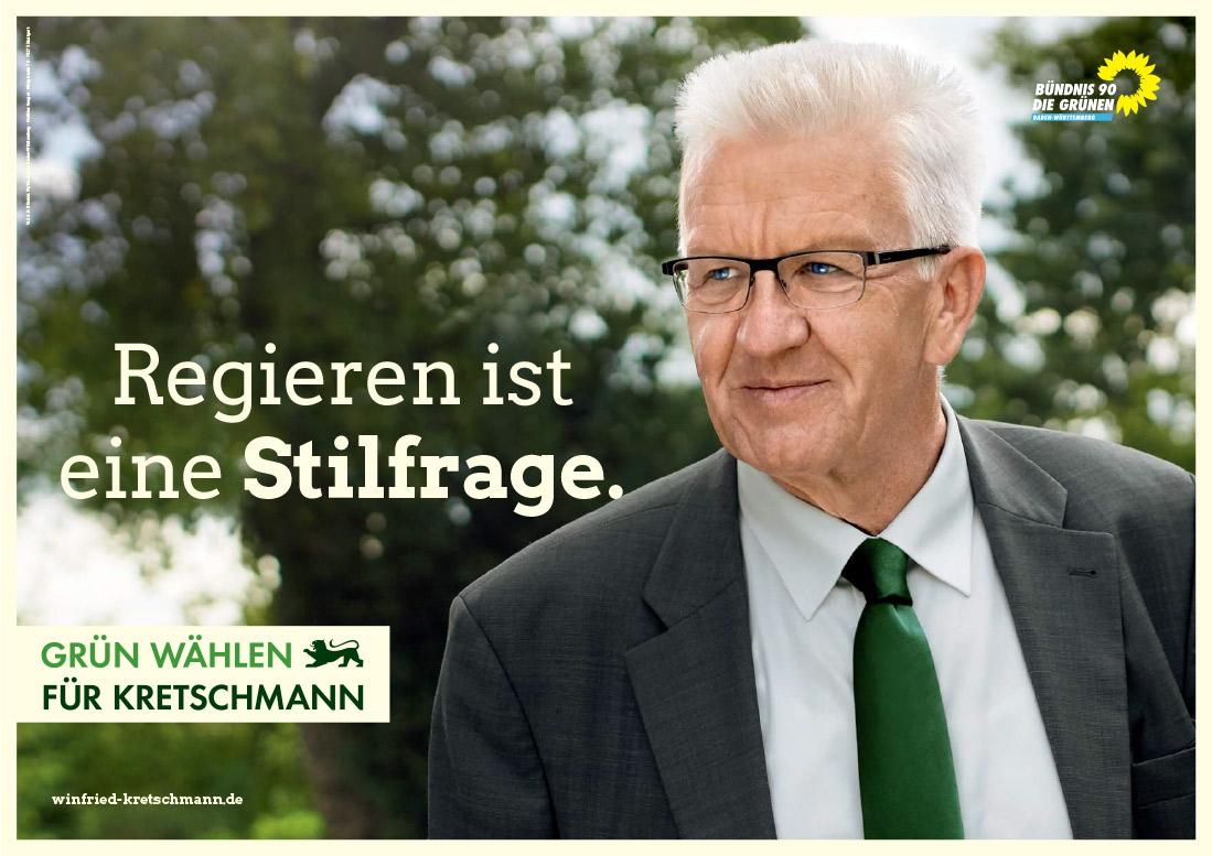 Plakat Zur Landtagswahl In Baden Wurttemberg 2016 Bundnis90 Grune Winfried Kretschmann Design Tagebuch