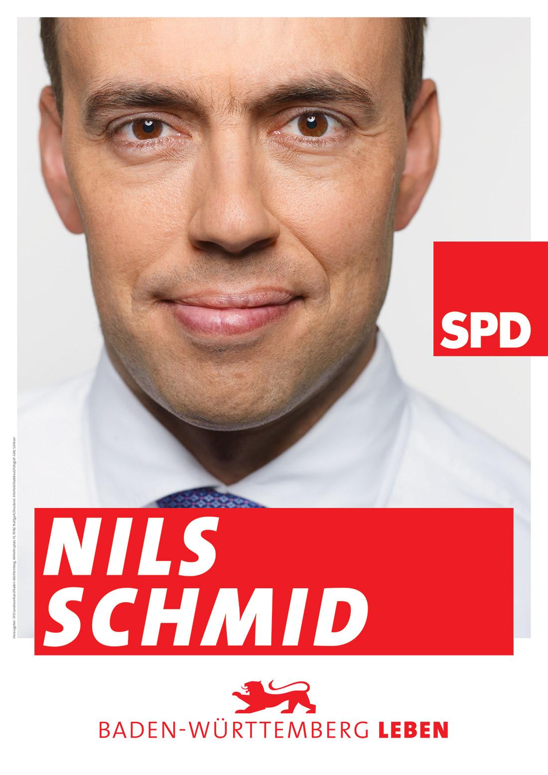 SPD Nils Schmid – Plakat zur Landtagswahl in Baden-Württemberg 2016