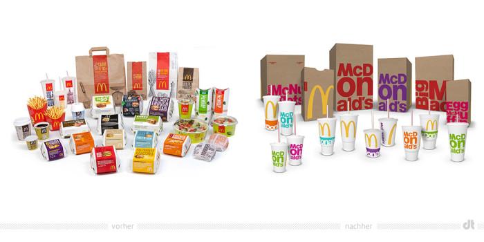McDonald's Verpackung – vorher und nachher
