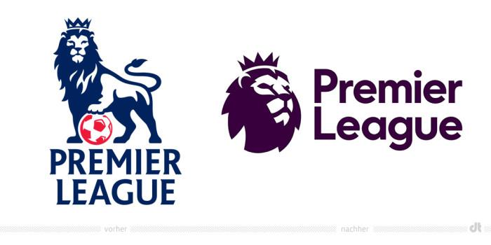 Premier League Logo – vorher und nachher