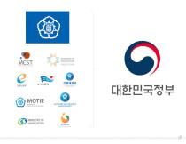 Logos der Regierung von Südkorea