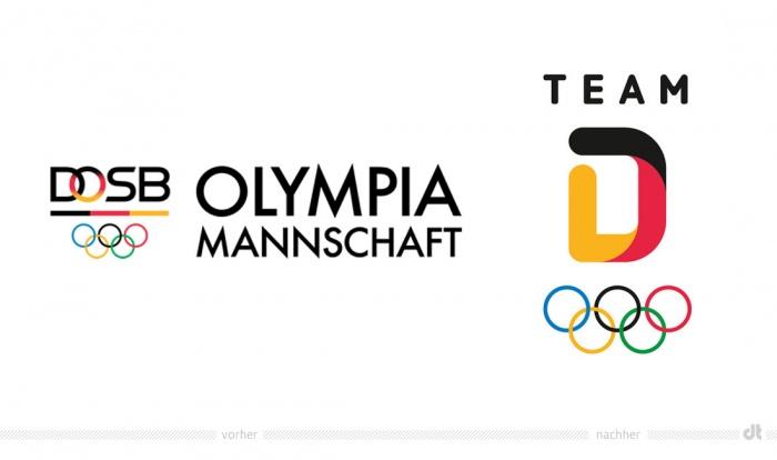 DOSB Olympiamannschaft Logo – vorher und nachher – Design