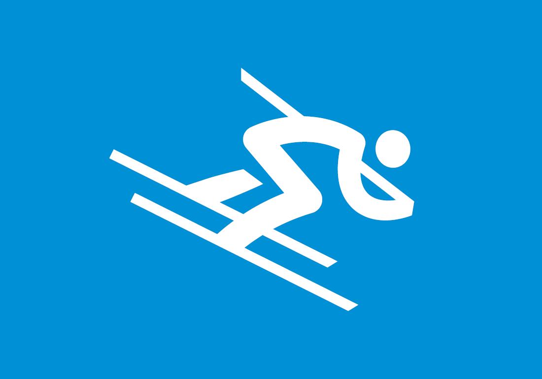 Piktogramm der Olympischen Winterspiele 2018 in Pyeongchang