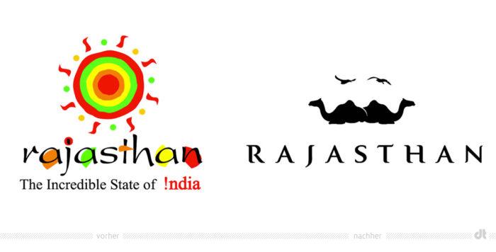 Rajasthan Logo – vorher und nachher