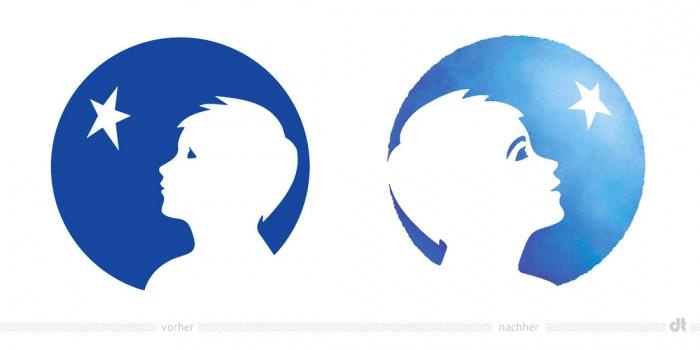 Danone Logo – vorher und nachher
