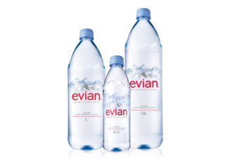Evian Flaschendesign