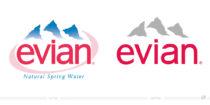 Evian Logo – vorher und nachher