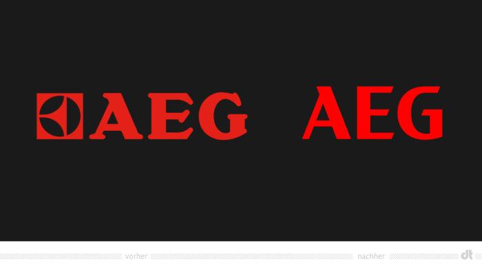AEG Logo – vorher und nachher