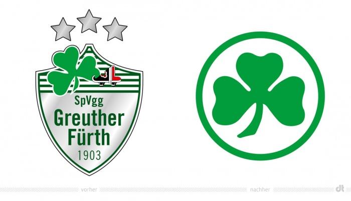 SpVgg Greuther Fürth Logo – vorher und nachher