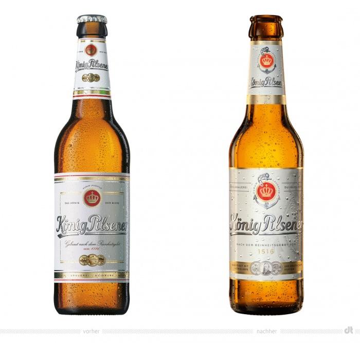 König Pilsener Flasche – vorher und nachher