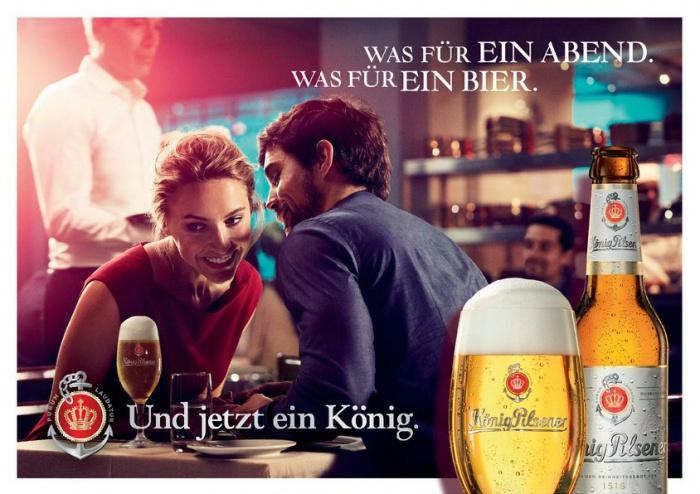 König Pilsener Neue Flasche Anzeige quer