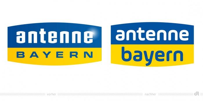 Antenne Bayern Logo – vorher und nachher