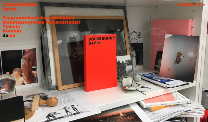 Berliner Volksbühne Website