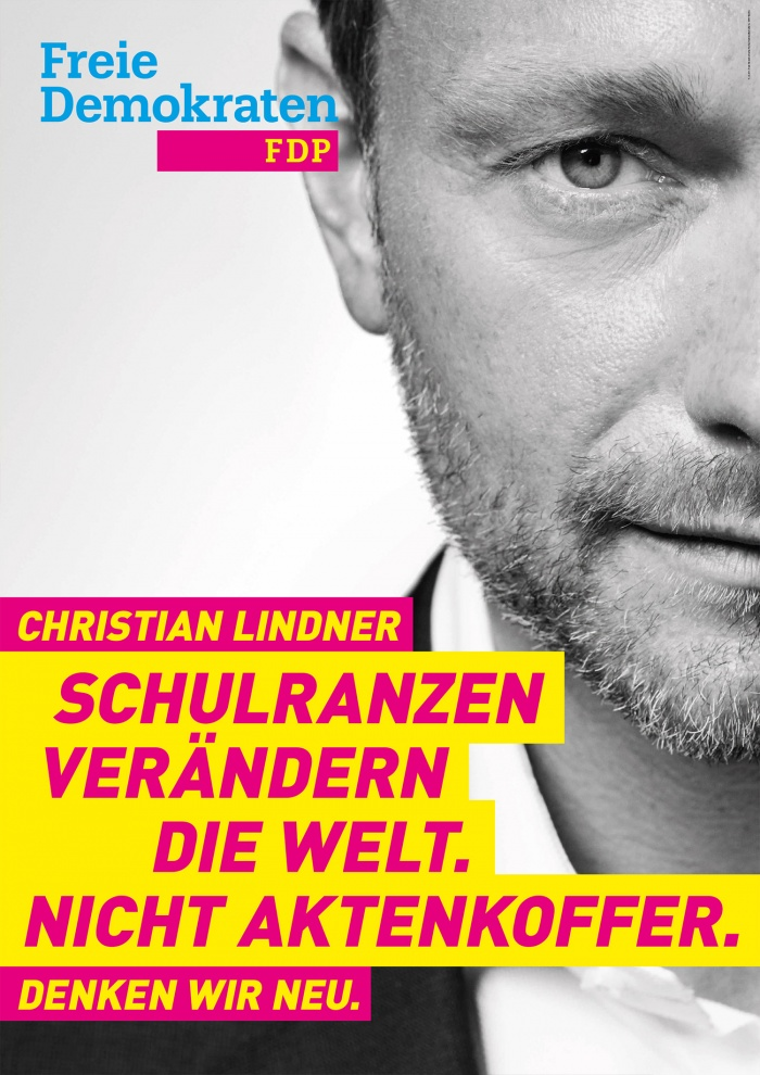 Bundestagswahl 2017 Plakat FDP Lindner