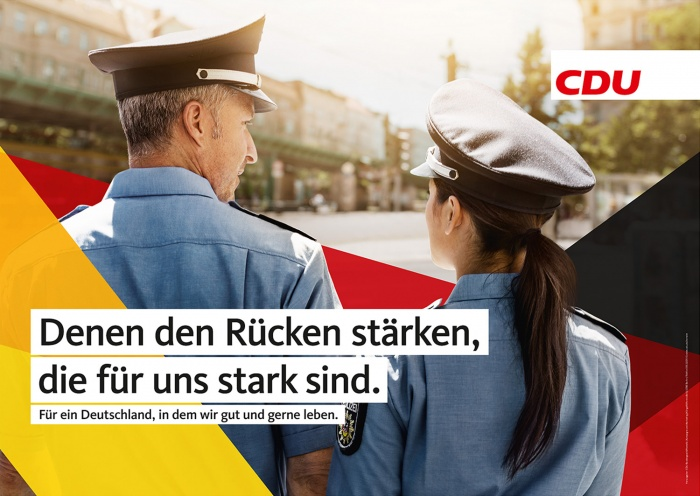 Bundestagswahl 2017 Großflächenplakat CDU