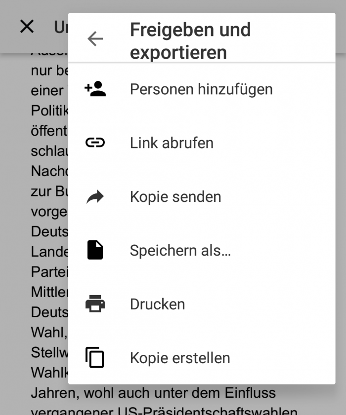 Google Docs (Android)