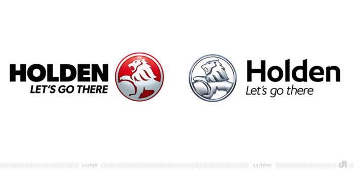 Holden Logo – vorher und nachher