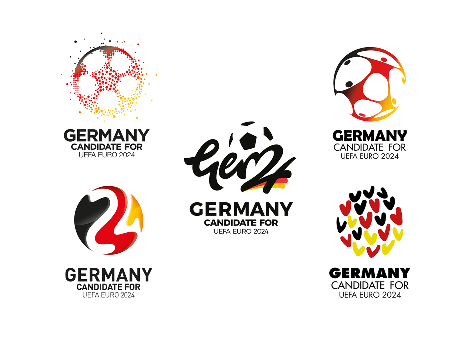 The 5 finalists of the Logo competition: