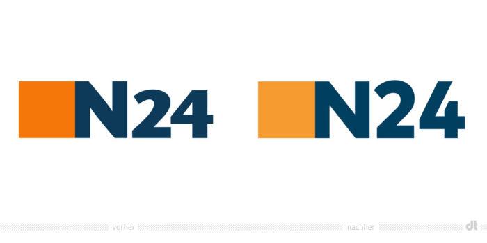 N24 Logo – vorher und nachher