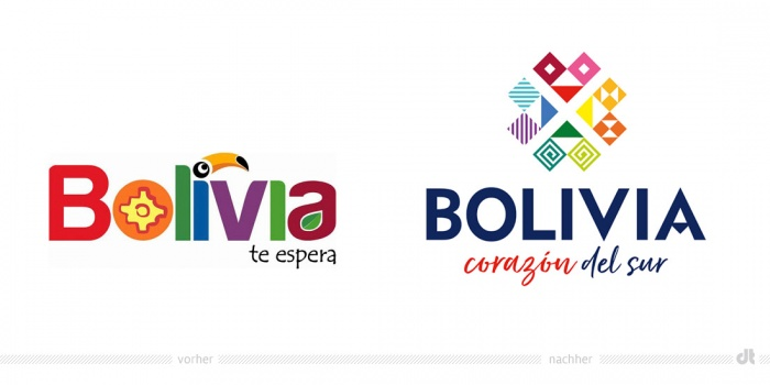 Bolivia Logo – vorher und nachher
