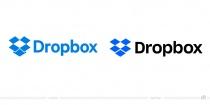 Dropbox Logo – vorher und nachher