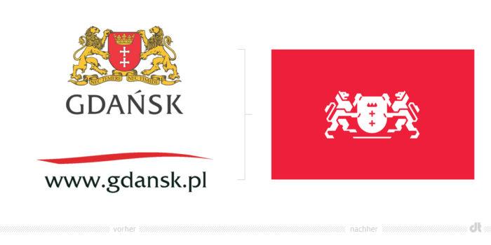 Gdansk Logo – vorher und nachher
