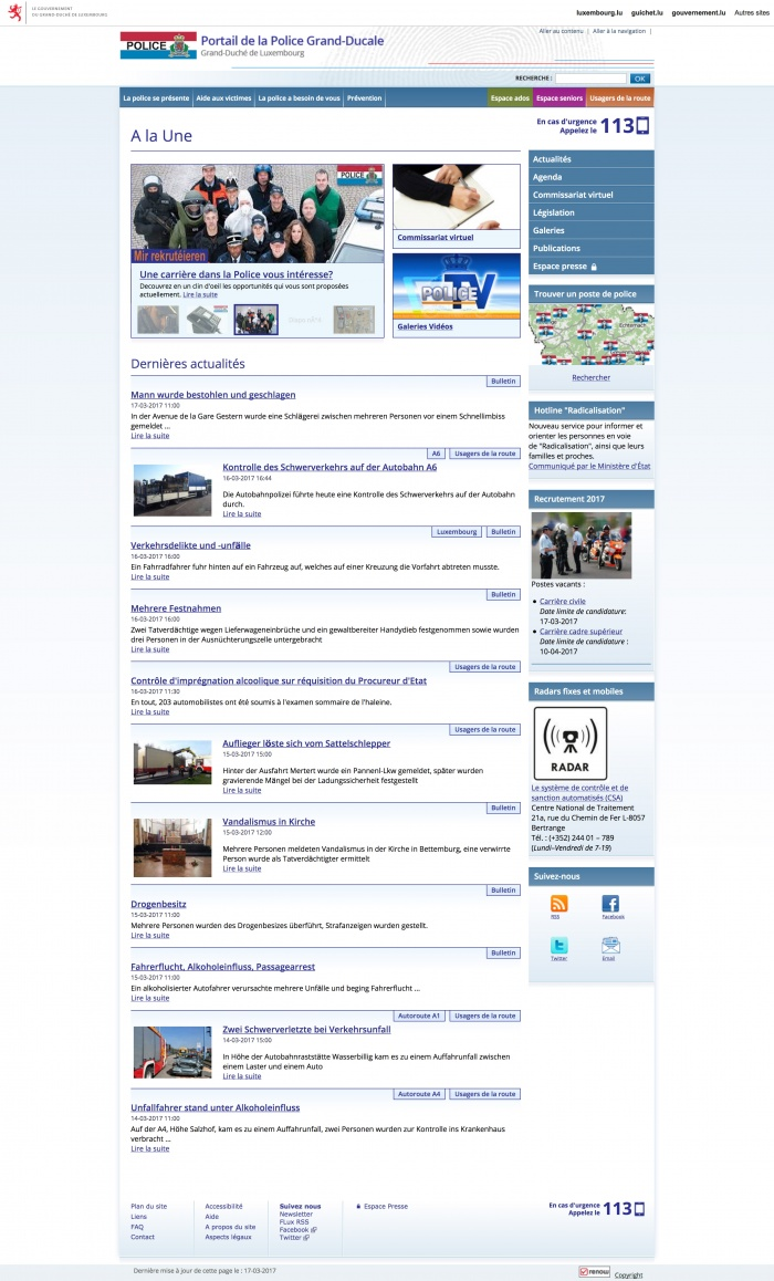 Police Luxembourg Website (bis 10/2017)