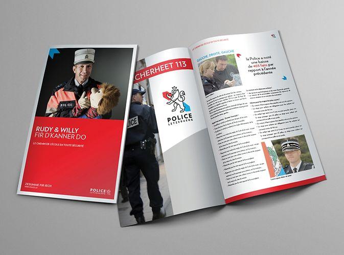 Polizei Luxemburg Broschüre