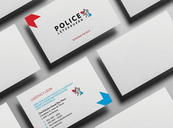 Polizei Luxemburg Visitenkarte
