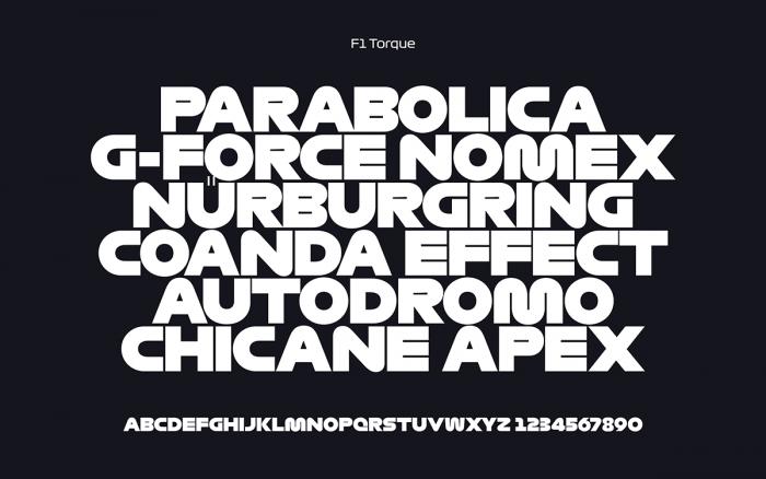 F1 Typography Torque