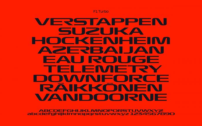 F1 Typography Turbo