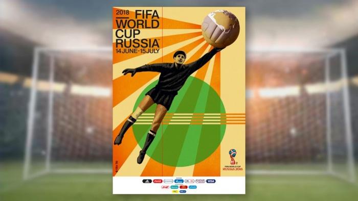 Offizielles Poster der FIFA-Fußballweltmeisterschaft 2018 in Russland