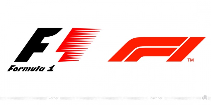 Formel 1 Logo – vorher und nachher