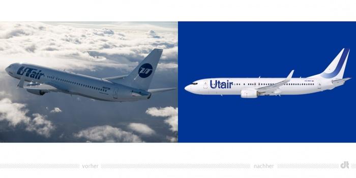 Utair Aircraft – vorher und nachher