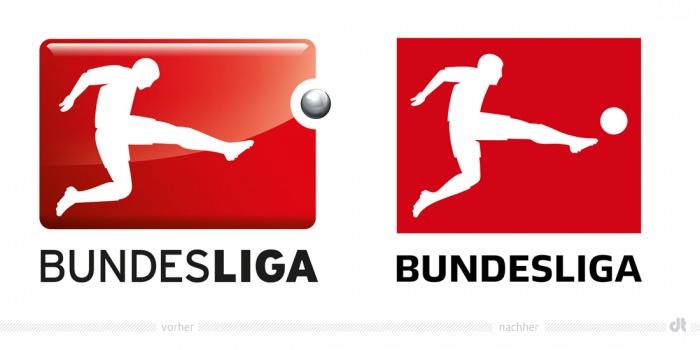 Bundesliga Logo – vorher und nachher
