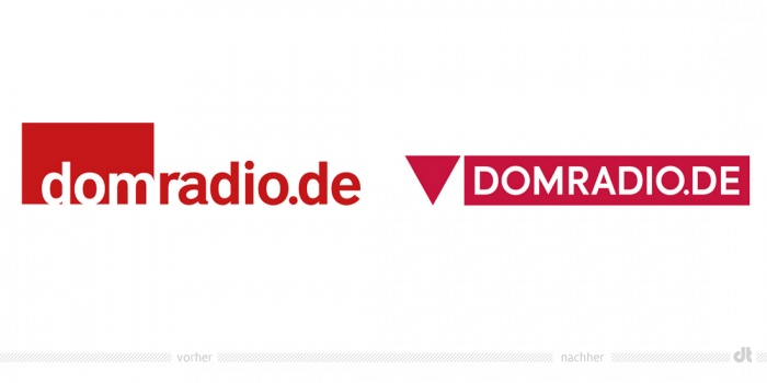 Domradio Logo – vorher und nachher