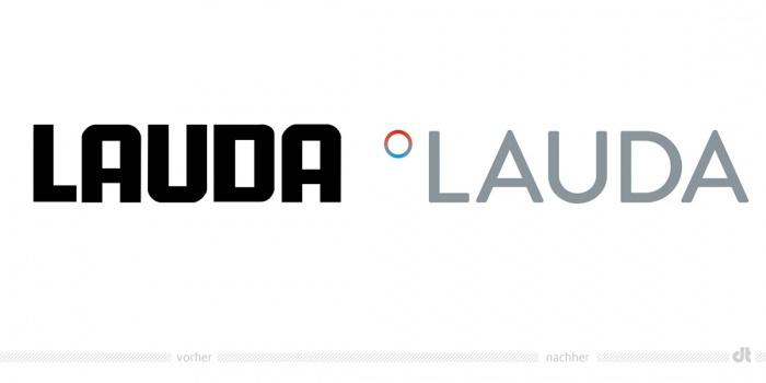 LAUDA Logo – vorher und nachher