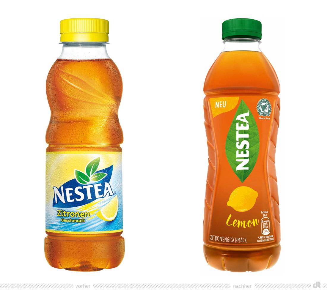 Neuer Markenauftritt Fr Nestea Design Tagebuch Lemon Tea Zitrone 05l Flasche Vorher Und Nachher