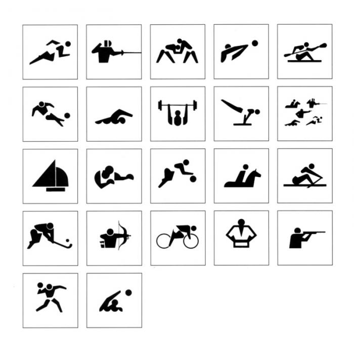 Tokyo 1964 Piktogramme