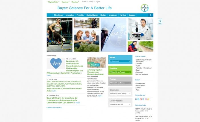 Bayer AG Website