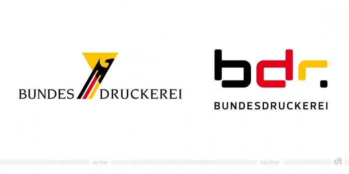 Bundesdruckerei Logo – vorher und nachher
