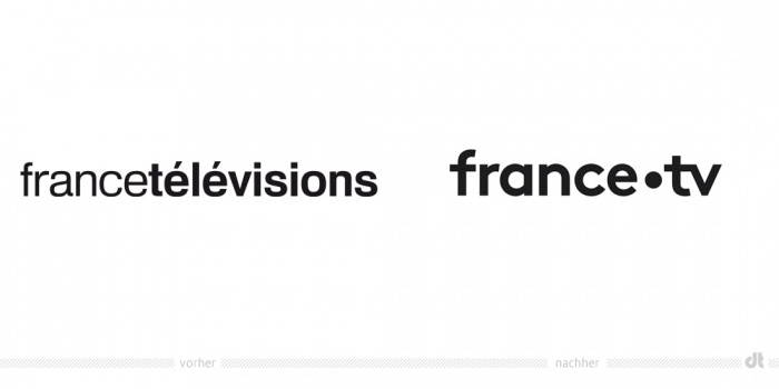 France Televisions Logo – vorher und nachher